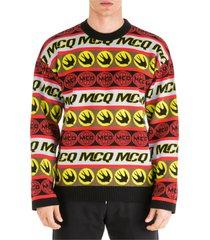 maglione maglia uomo girocollo swallow