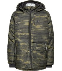 hmlcosmo jacket outerwear thermo outerwear thermo jackets groen hummel