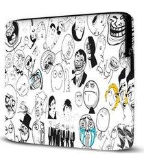 capa para notebook memes 15.6 à 17 polegadas - unissex
