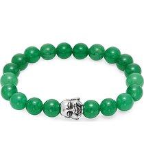 jean claude men's lucky laughing buddha jade bracelet - jade