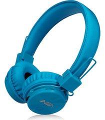 audífonos gamer, gaming estéreo hd inalámbricos audifonos bluetooth manos libres de los auriculares originales de nia x3 deportivos con la radio de la tarjeta fm del tf de la ayuda del micrófono (azul)
