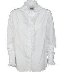dondup frilled shirt