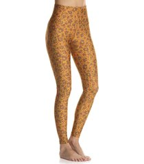 leggings amarillo-café-fucsia maaji swimwear marvel tigers black high rise full
