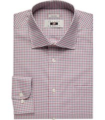 joseph abboud burgundy gingham dress shirt