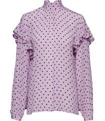 cleo blouse lange mouwen roze stella nova