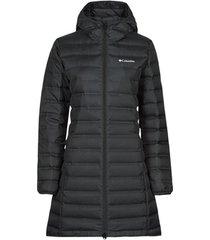 donsjas columbia lake down long hooded jacket