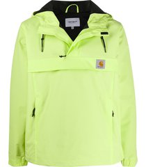 carhartt wip high collar hooded jacket - green