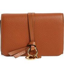 women's chloe alphabet leather wallet -