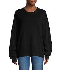 dropped-shoulder wool & cashmere-blend sweatshirt