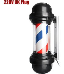 50cm led de poste del peluquero sesión giratoria hair salon rojo blanco azul diseño raya - british standard 220v