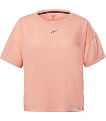 camiseta running reebok workout ready supremium - coral