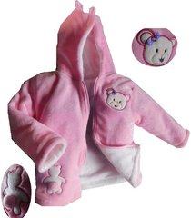 abrigo nena con capucha osita