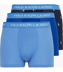 polo ralph lauren classic trunk 3-pack boxershorts sapphire