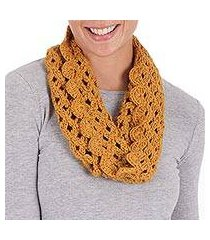 100% alpaca neck warmer, 'golden lace' (peru)