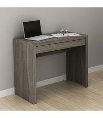 mesa escrivaninha 1 gaveta carvalho me4107 - tecno mobili