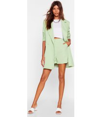 womens office hours high-waisted tailored shorts - mint