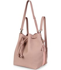 esin akan notting hill leather convertible bucket bag