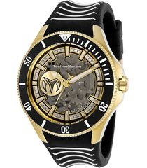 reloj technomarine tm-118023 blanco negro silicona
