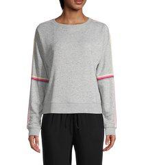 posting up stripe-sleeve sweatshirt