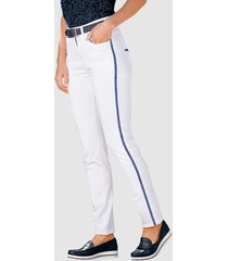 7/8-jeans paola vit::marinblå