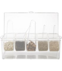 mind reader 5 compartment condiment serving tray