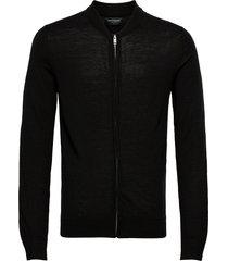 bs viggo stickad tröja cardigan svart bruun & stengade