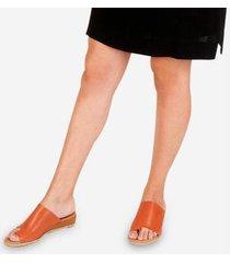 anabela alamanda de couro soulier feminina - feminino