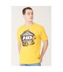 camiseta hd estampada amarela