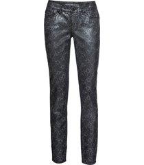 jeans skinny pitonati (nero) - rainbow