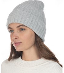 style & co rib solid beanie with lurex, created for macy's