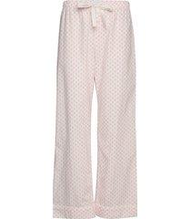 pj pants in poplin pyjamasbyxor mjukisbyxor rosa gap