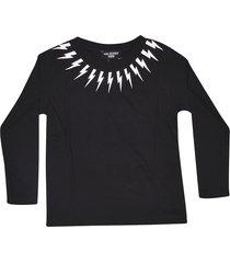 neil barrett lightning collar sweatshirt