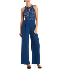nightway lace wide-leg jumpsuit