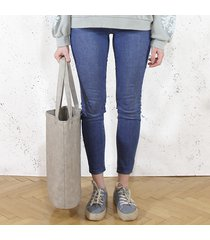 shopper xl torba beżowa codzienna na zamek