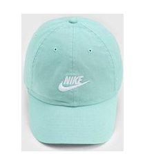 boné nike sportswear futura washed verde