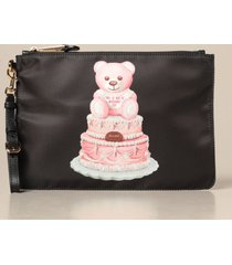 moschino couture clutch moschino couture nylon clutch with teddy cake