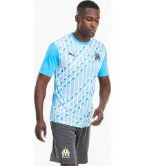 olympique de marseille stadium herenjersey, blauw/wit, maat xxl | puma