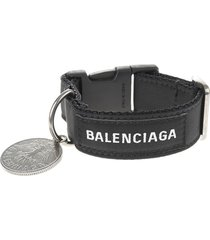balenciaga woman black coin bracelet
