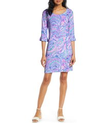 women's lilly pulitzer sophie upf 50+ ruffle shift dress