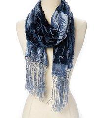 amtal women velvet burnout safari animal design oversized shawl wrap scarf w/tas