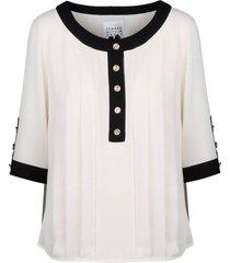 edward achour paris folded blouse