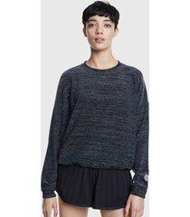 sweater desigual sweat lurex studi negro - calce holgado