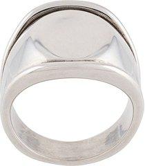 bottega veneta antique-effect signet ring - silver
