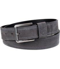 calvin klein men's embossed logo casual leather jean belt
