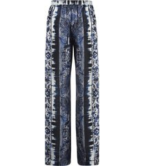 alberta ferretti long length printed trousers