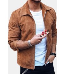 manica lunga a maniche lunghe in tinta unita da uomo casual stile street style camicia