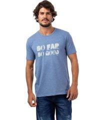 camiseta masculina careca azul