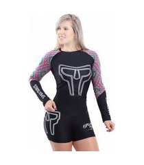 rash guard spartanus fightwear manga longa tribal