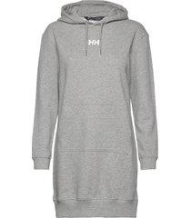 w active hoodie dress knälång klänning grå helly hansen