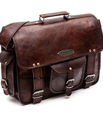 handmade_world men's business work briefcase carry laptop computer book bag